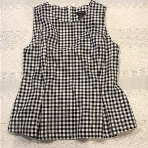 Ann Taylor black and white sleeveless top size 4